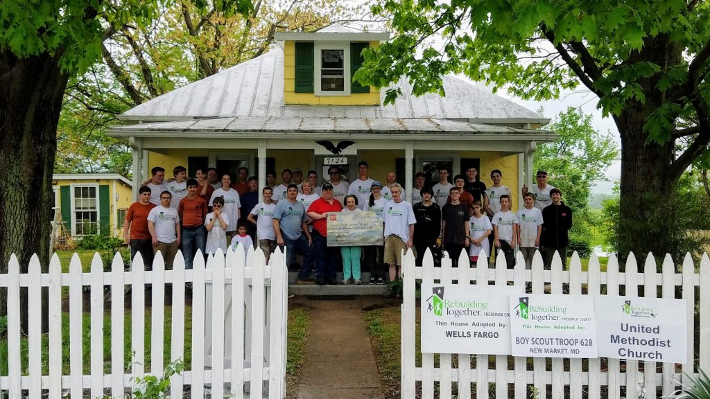 Wells Fargo Presents Check to Rebuilding Together Frederick