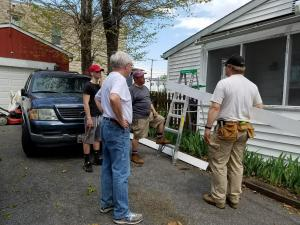 House being repaired by volunteers from Evangelical Lutheran Church in Frederick