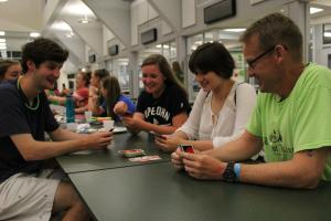 Playing a Game During Free Time (Photo by Victoria Knizewski)